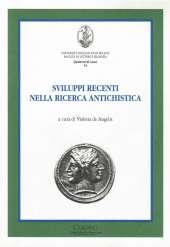 Sviluppi recenti nella ricerca antichistica_de Angelis_Cover