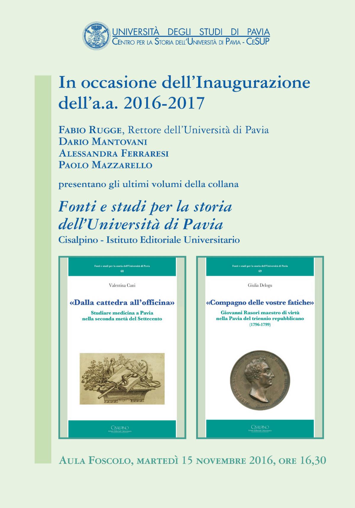 Pavia_Inaugurazione anno accademico 2016-2017
