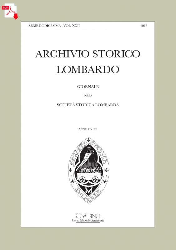 Archivio Storico Lombardo 2017 - copertina