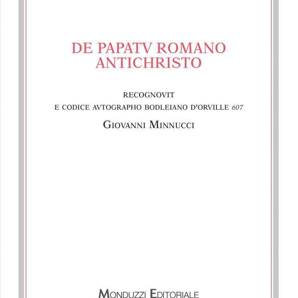 Presentazione De papatu Romano Antichristo Siena, Sala degli Intronati 12 giugno 2019