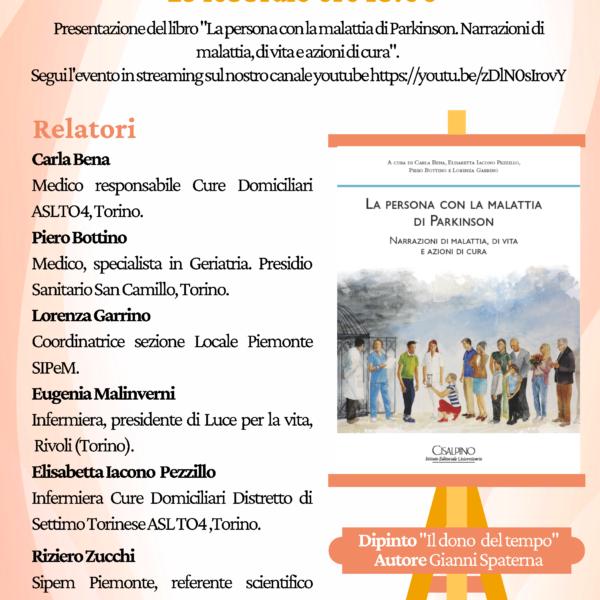 """Presentazione del libro """"La persona con la malattia di Parkinson. Narrazioni di malattia, di vita e azioni di cura"""""""